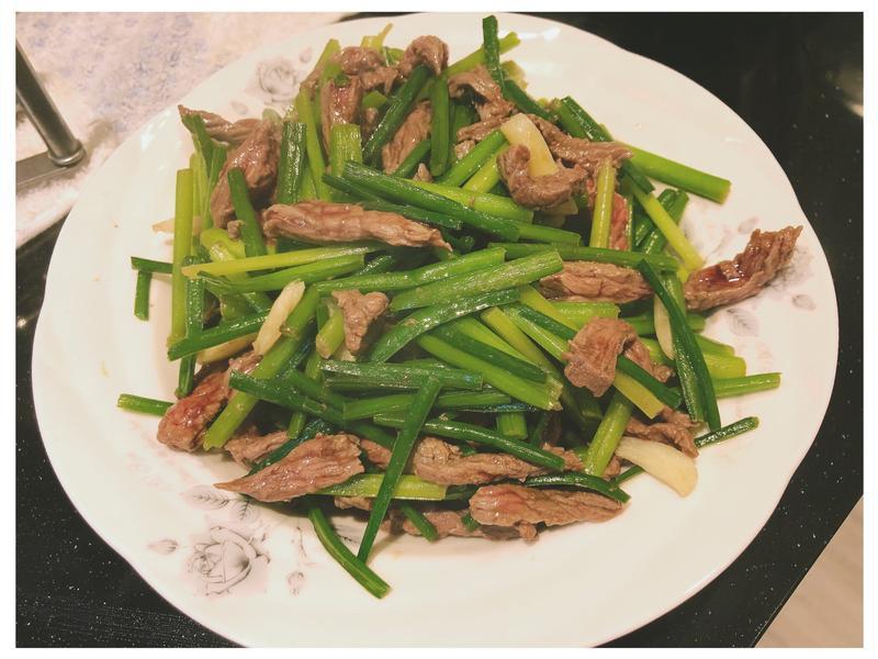 炒韭菜牛肉