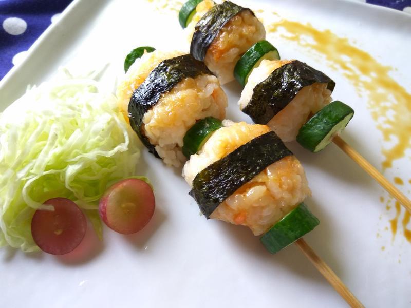 年菜拼盤好菜色─飯糰串燒
