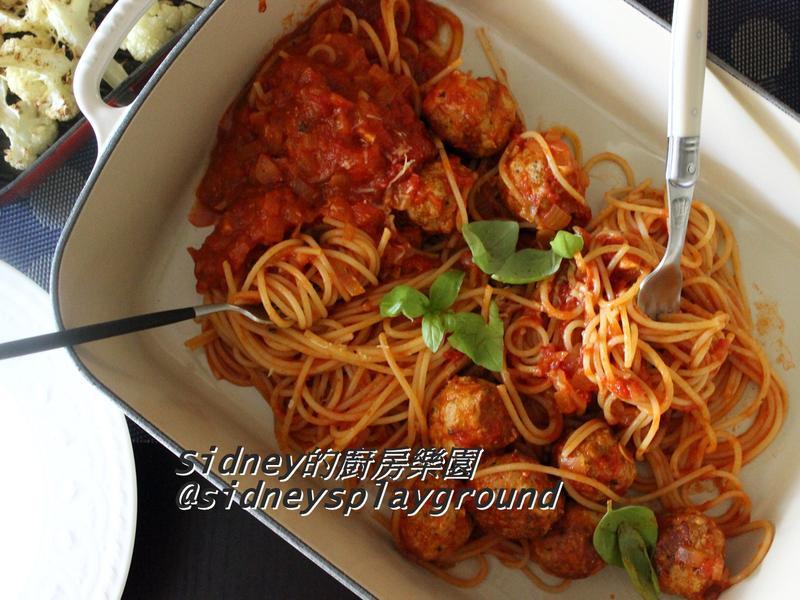 肉丸子番茄義大利麵