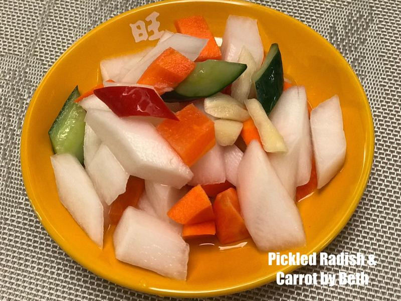 解油膩的酸甜蘿蔔泡菜