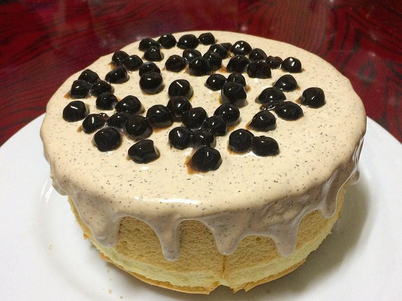 珍珠奶茶戚風蛋糕