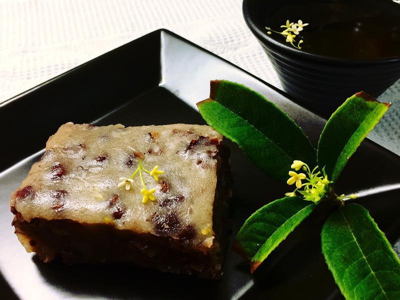 桂花紅豆年糕