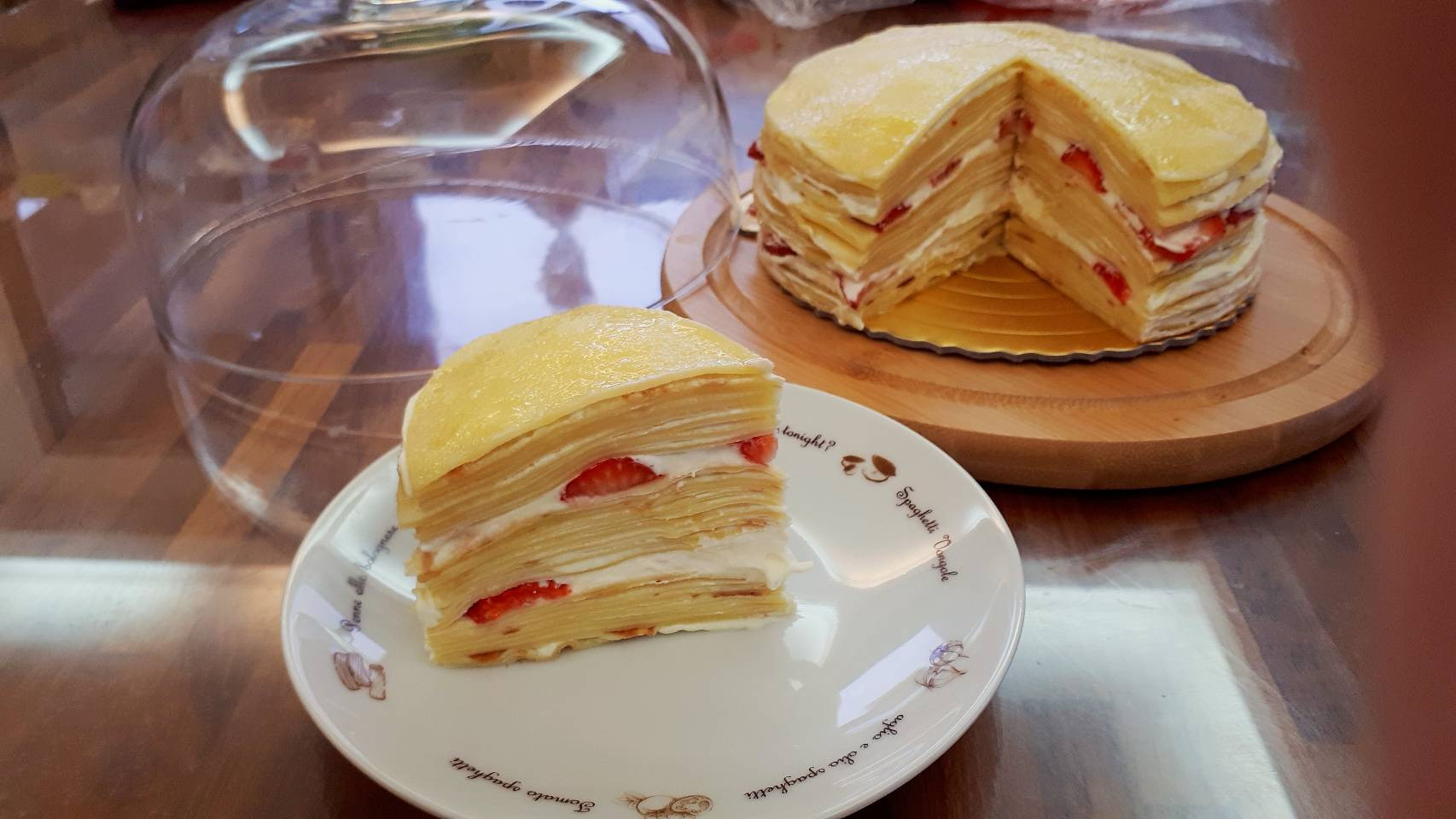 草莓千層蛋糕