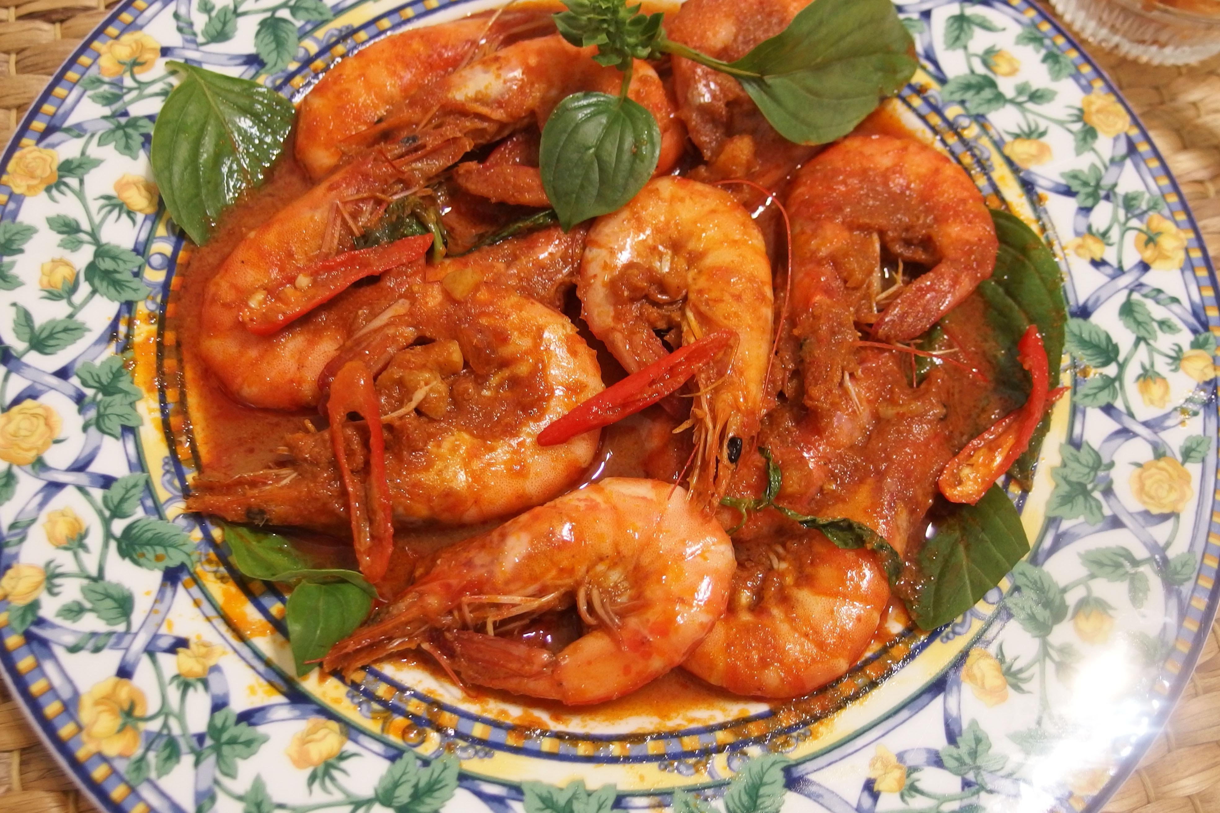 ☺︎泰式紅咖哩酸辣蝦