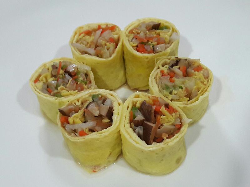 蔬菜蛋皮捲 年菜 便當菜  超級煎蛋捲