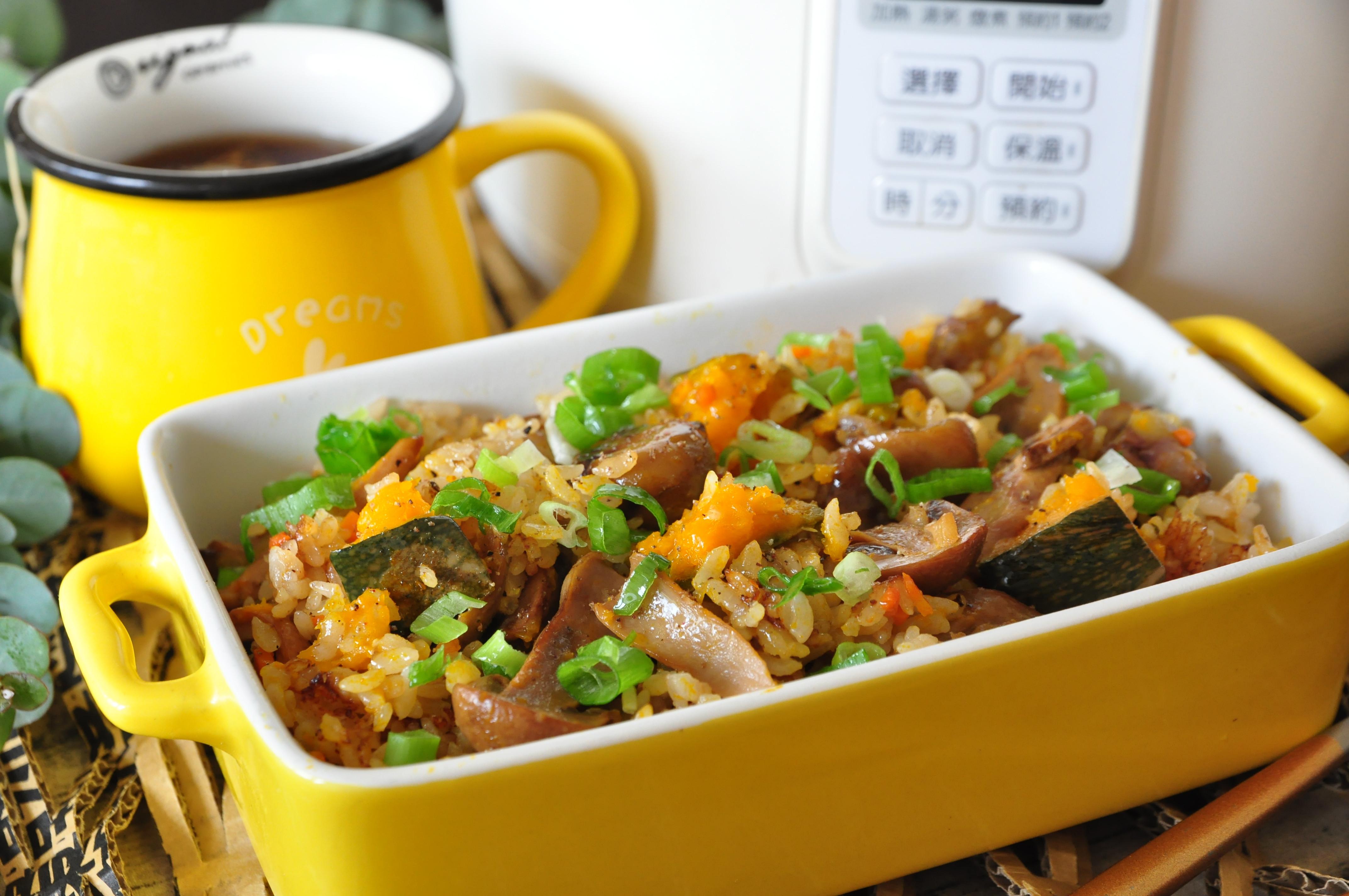 奶油巴西蘑菇炊飯