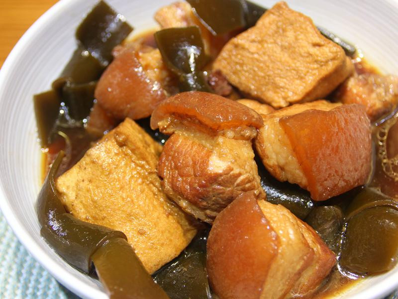 家常滷肉海帶油豆腐