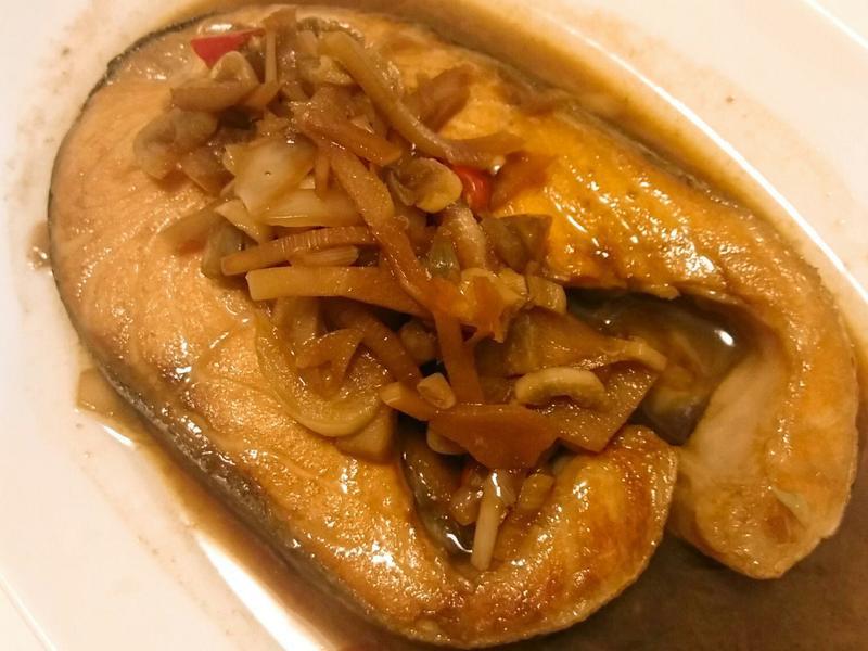 酸筍煎鮭魚