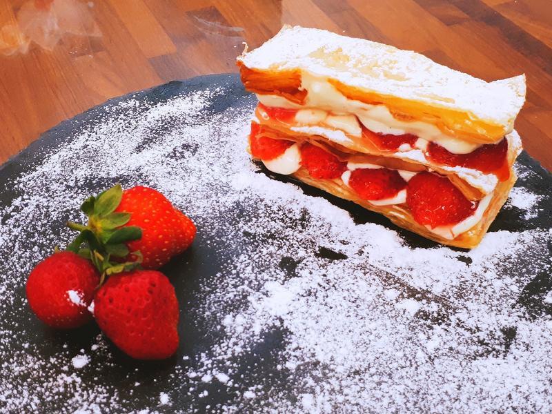草莓千層派(手工派皮)