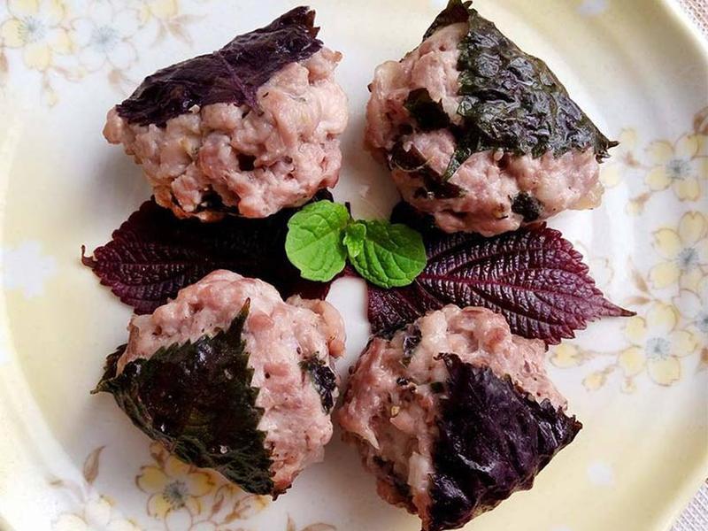 紫蘇小肉餅