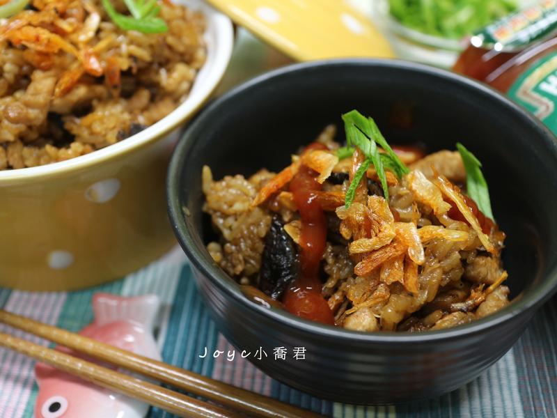 櫻花蝦香菇油飯~小家庭版