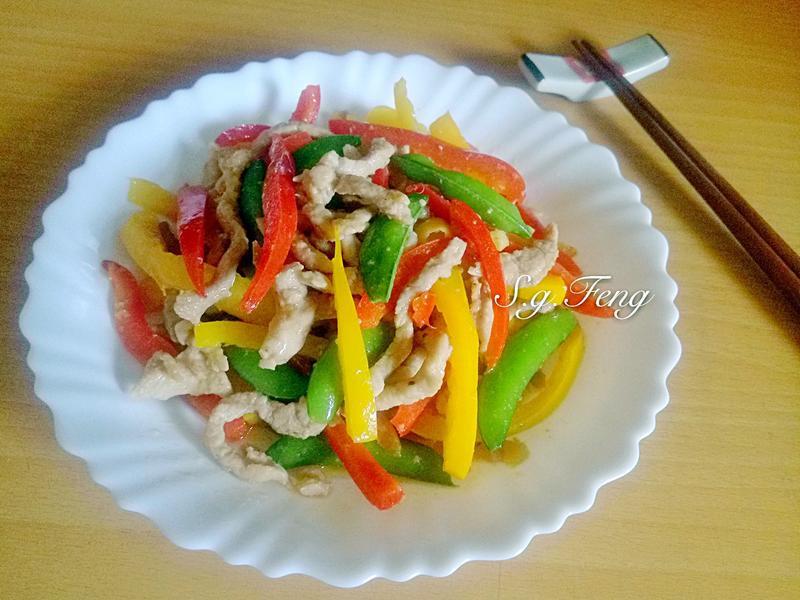 彩椒炒肉絲