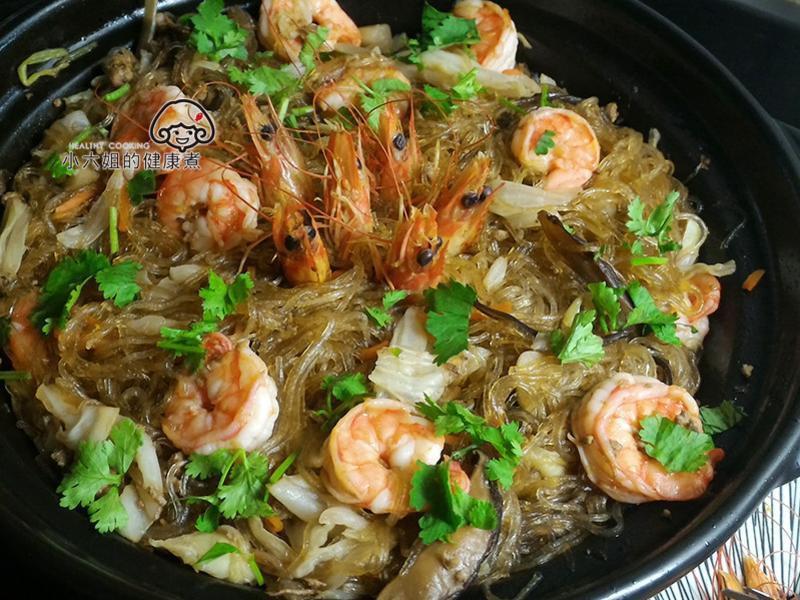 [年菜料理]鮮蝦粉絲煲