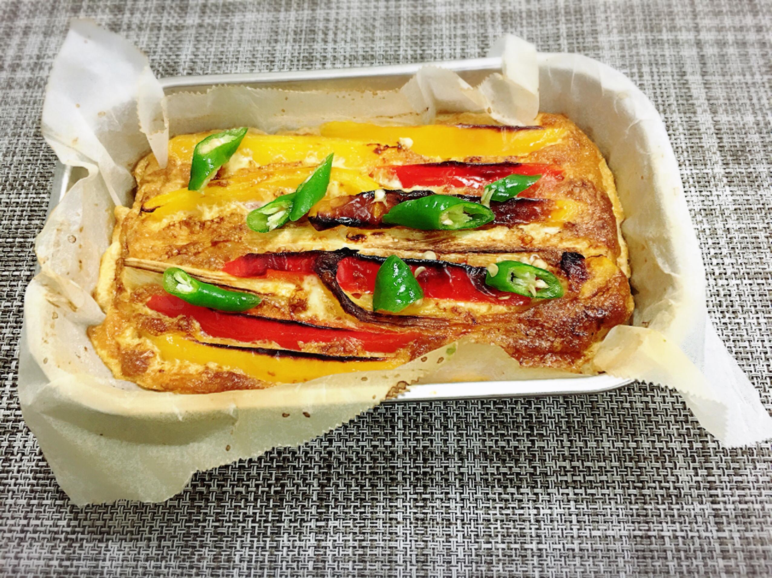 筊白筍甜椒烘蛋(水波爐料理)