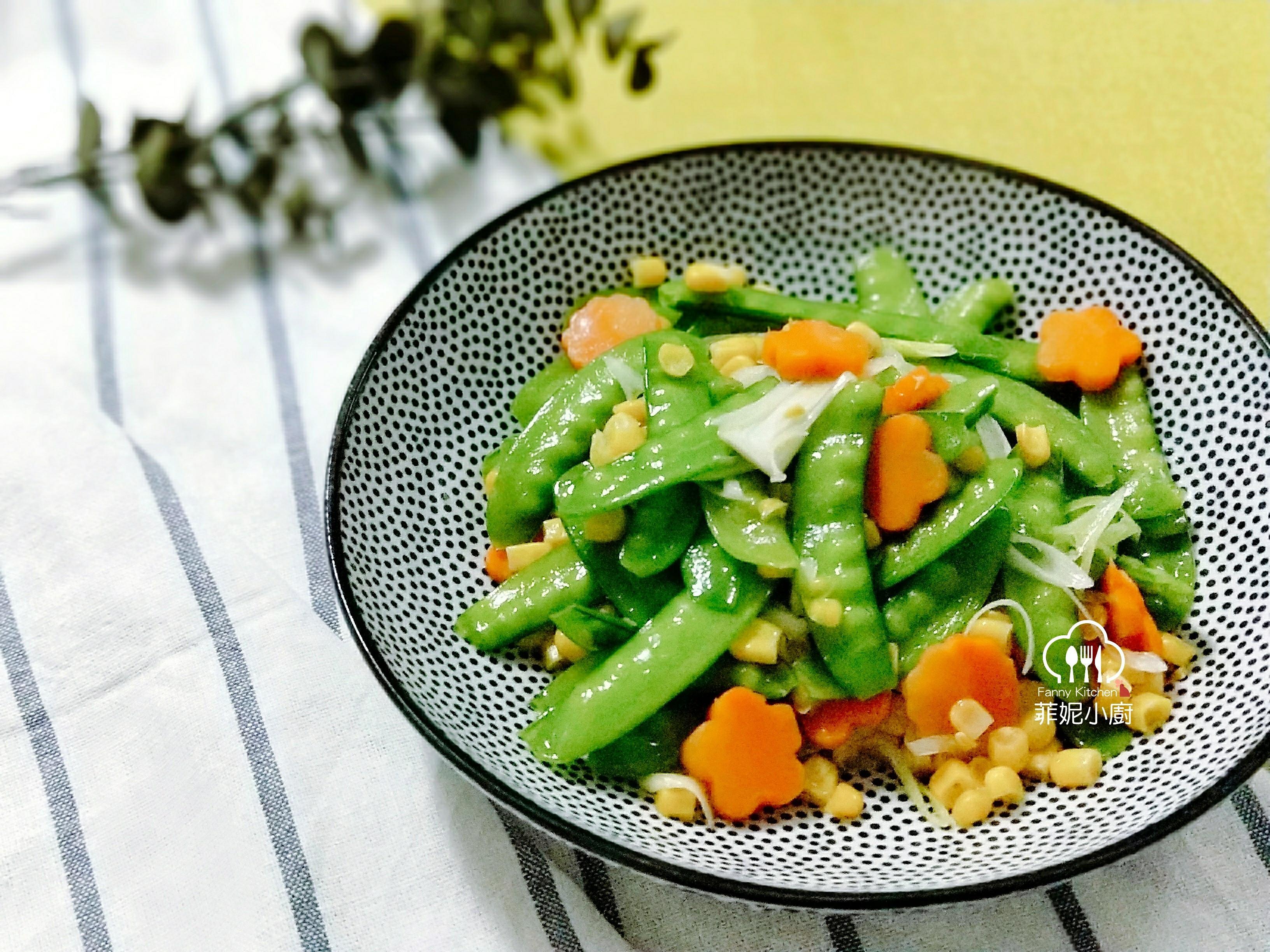 碗豆炒玉米