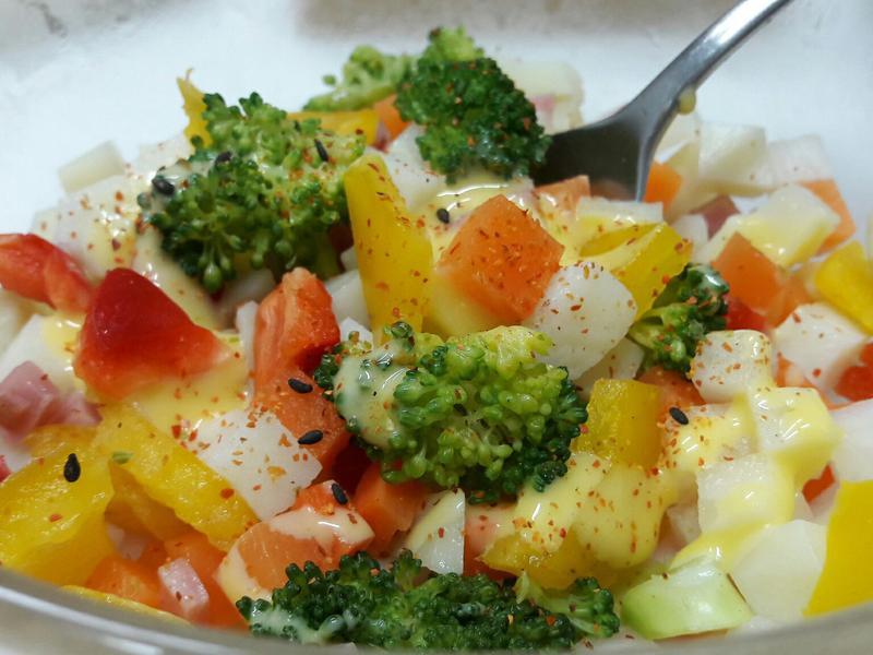 五色彩椒蘿蔔馬鈴薯沙拉