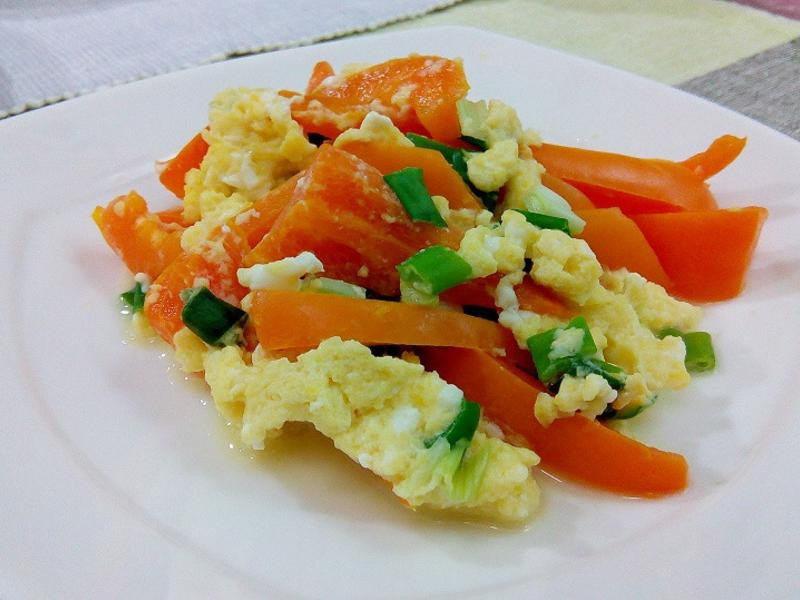 【健康美味】甜椒炒蔥蛋