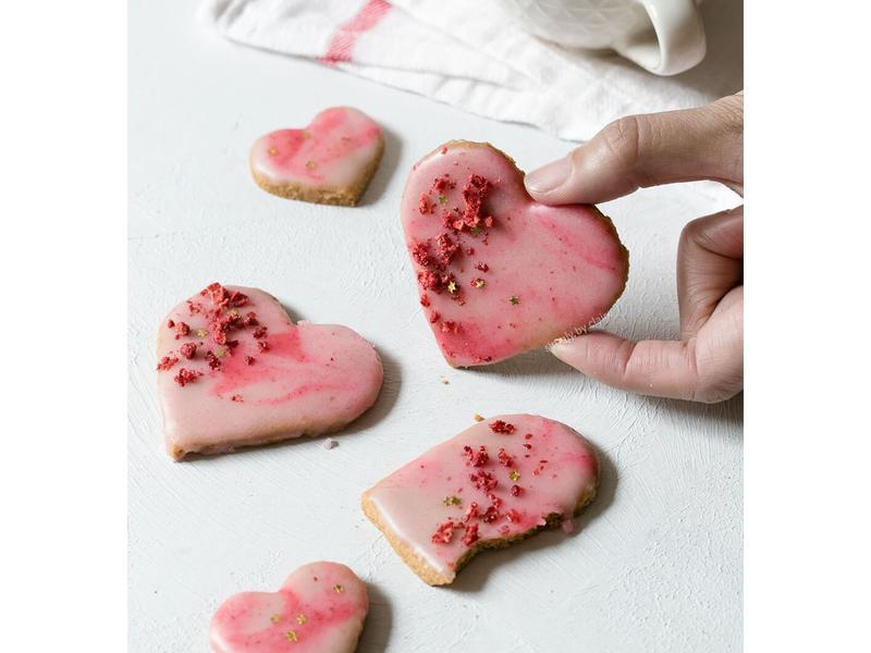 情人節食譜 – 粉紅大理石紋糖霜餅乾