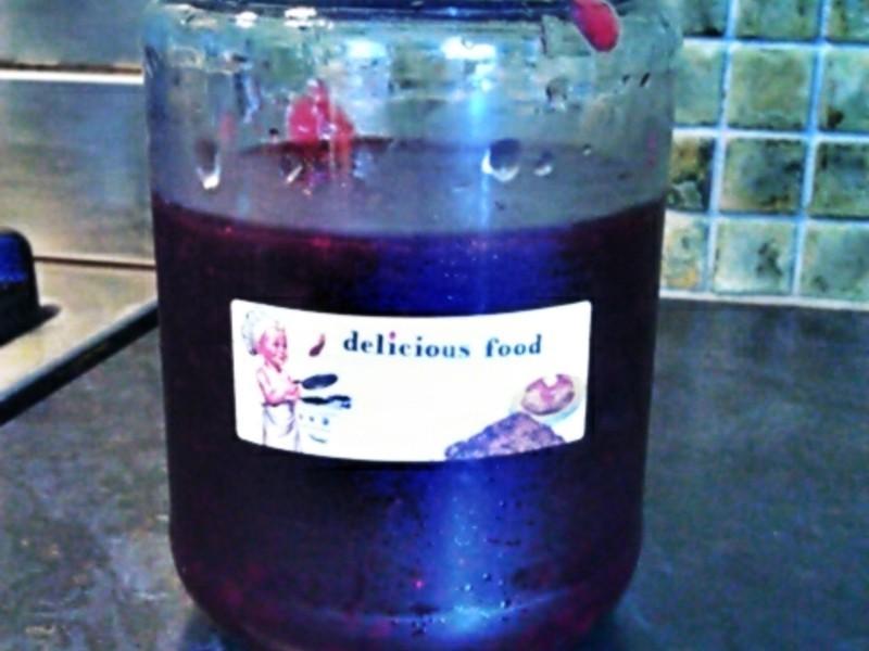 手做紅醋栗藍莓果醬