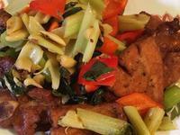 T fal 烘烤柚子豬排肉及甜椒芹菜