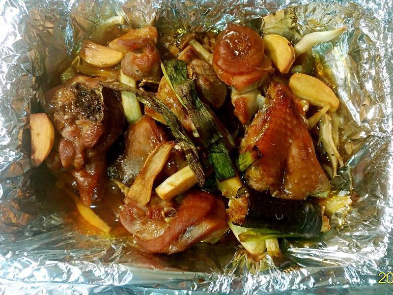 照燒雞腿蔬菇