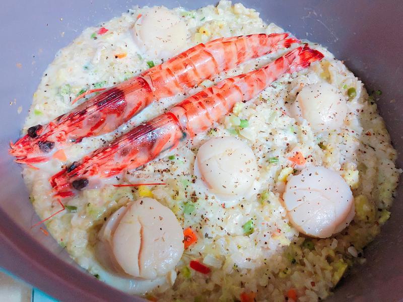 奶油海鮮蔬菜燉飯