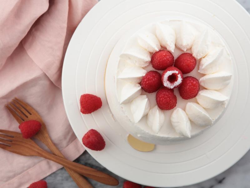 覆盆子鮮奶油戚風蛋糕《蛋糕小時尚》