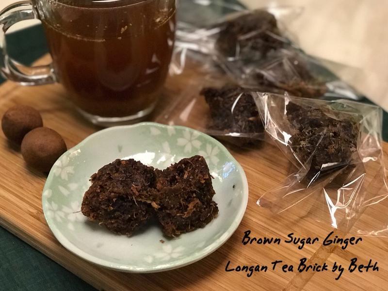 黑糖桂圓薑母茶磚