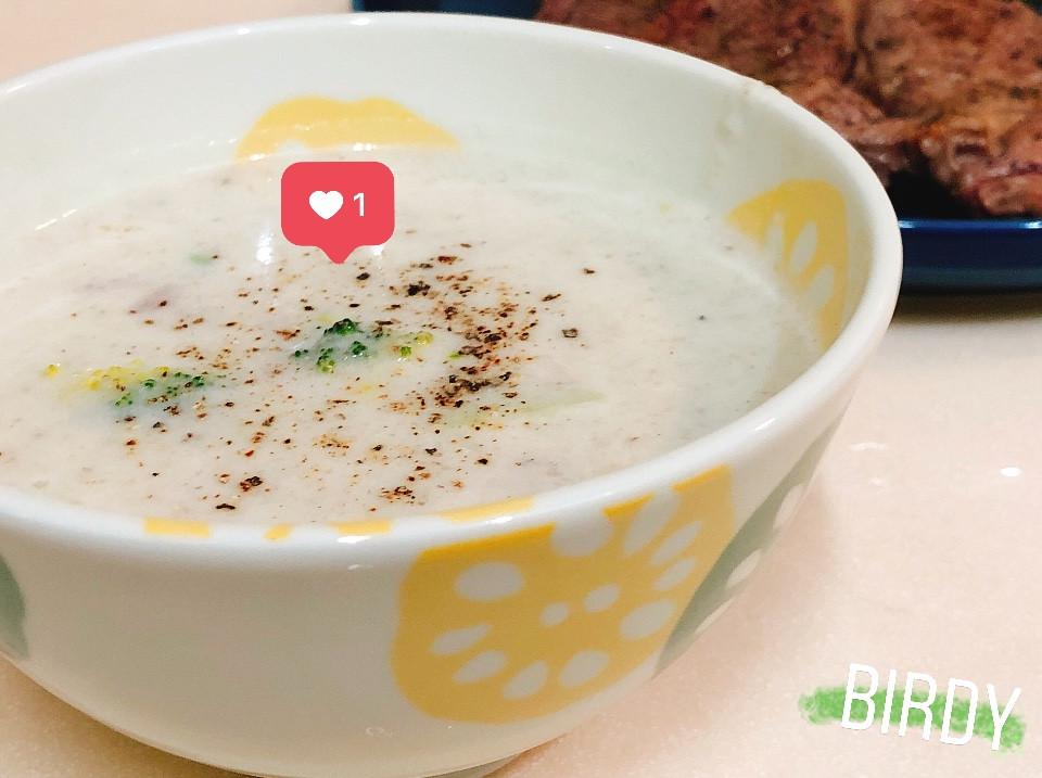 超簡易 香濃蘑菇火腿濃湯