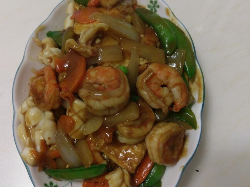 咖哩海鮮燴豆腐