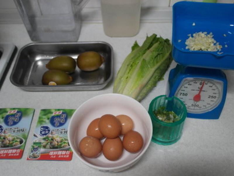 康寶鮮味炒手(鰹魚口味)之【黃金奇異果生菜煎蛋】(一)