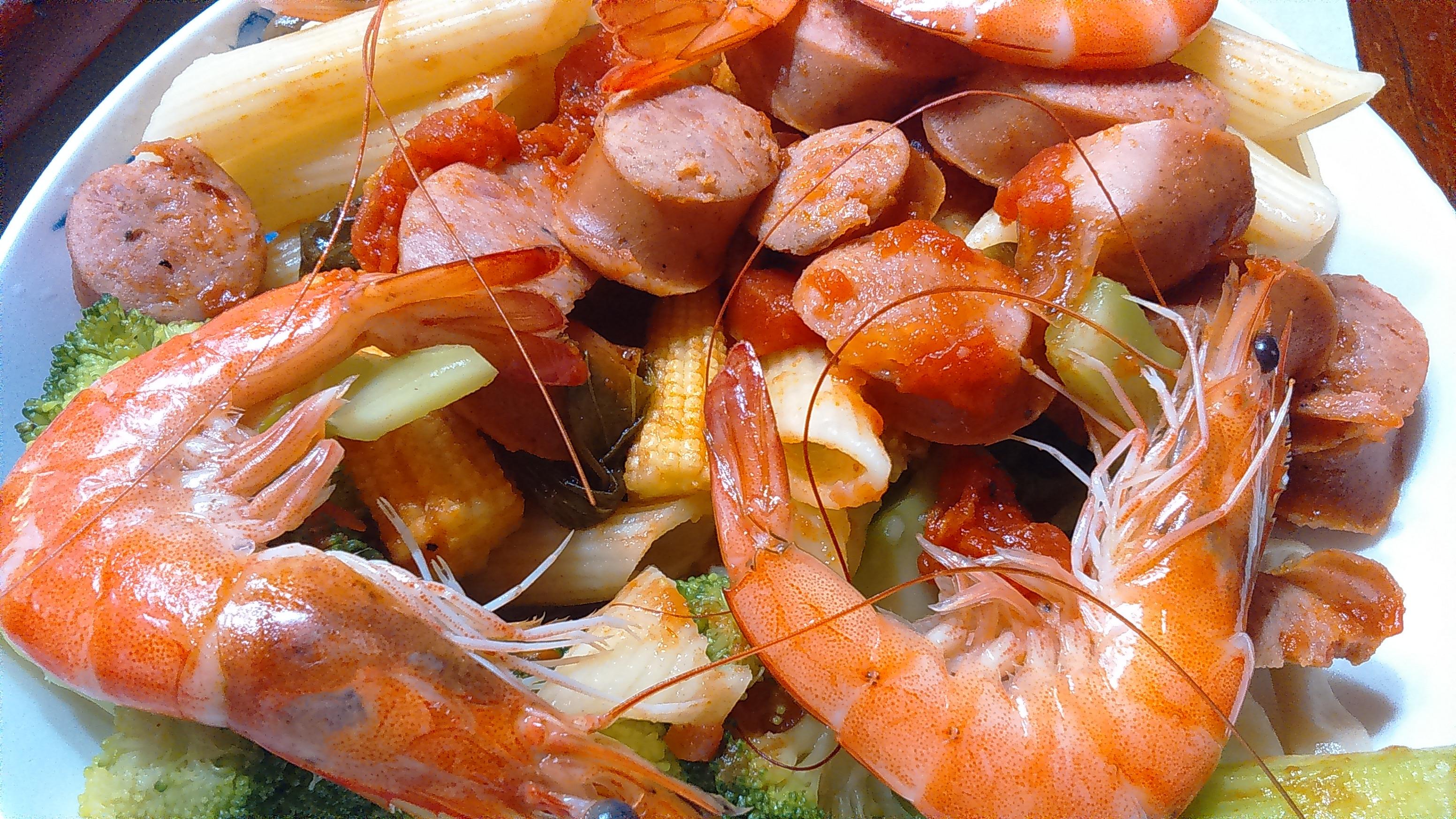 海陸番茄筆管麵
