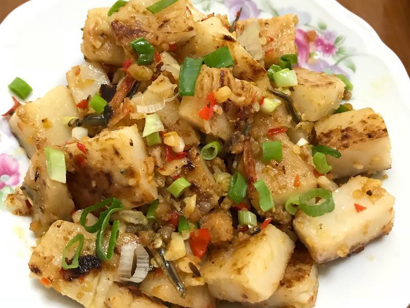 海鮮干貝醬辣炒蘿蔔糕