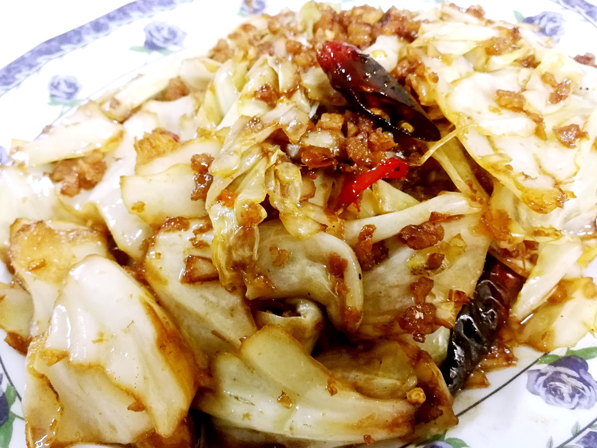 干锅高丽菜