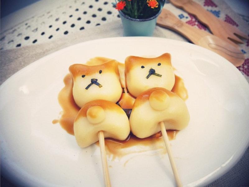 寶寶副食品「柴犬日式糰子」豆腐做的喔 ♪