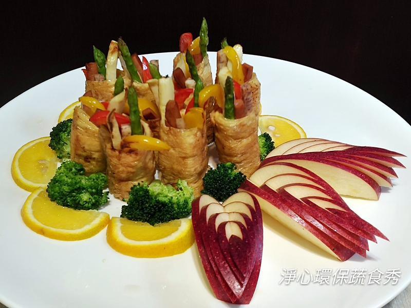 彩雲時蔬豆皮捲~純素食
