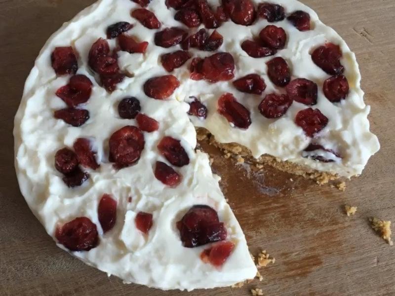 10步驟內,你也會「蔓越莓重乳酪蛋糕」!