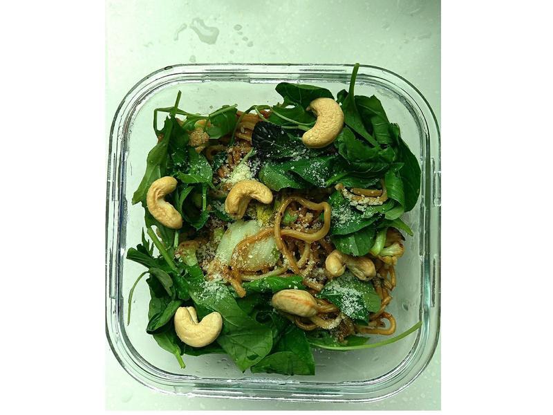 低油-堅果生菜炒麵
