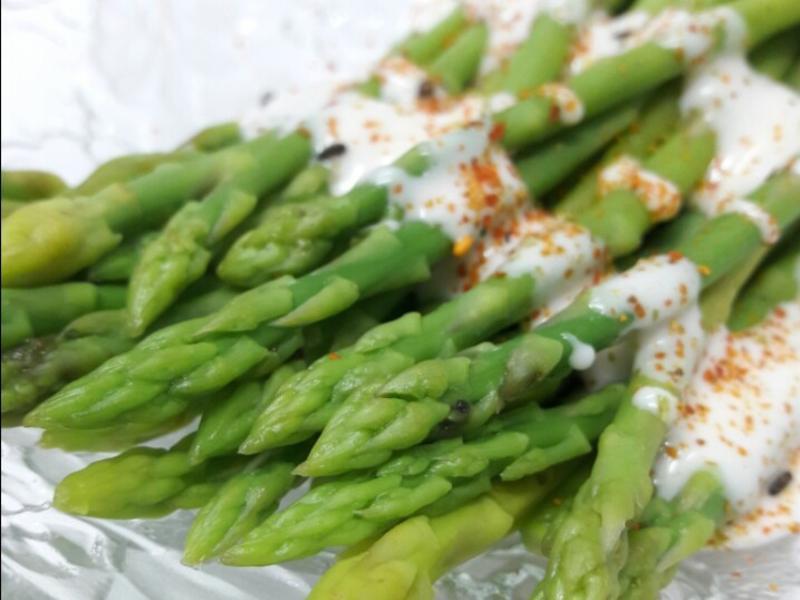 七味燙蘆筍沙拉  宴客家常菜十分鐘上菜