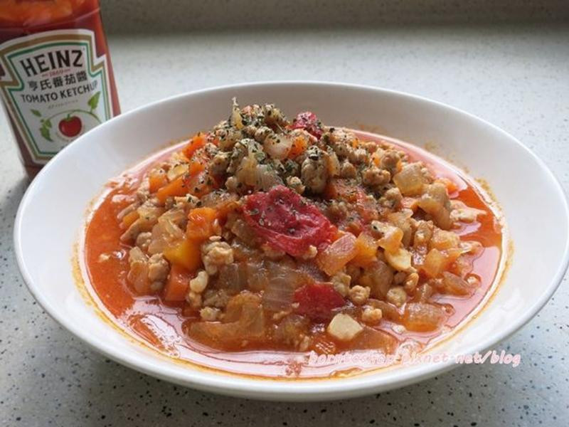 容易上手的茄汁鮮肉醬。下飯便當料理