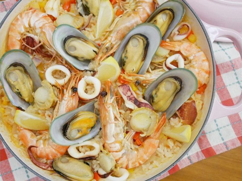 好簡單「西班牙海鮮燉飯」澎拜好鮮味 ❤
