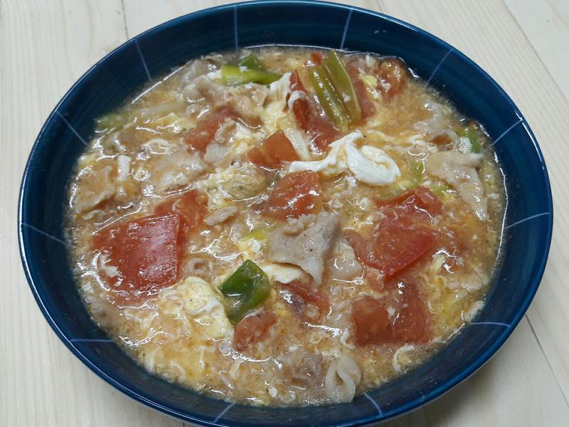 蕃茄滑蛋豬肉  十分鐘家常菜