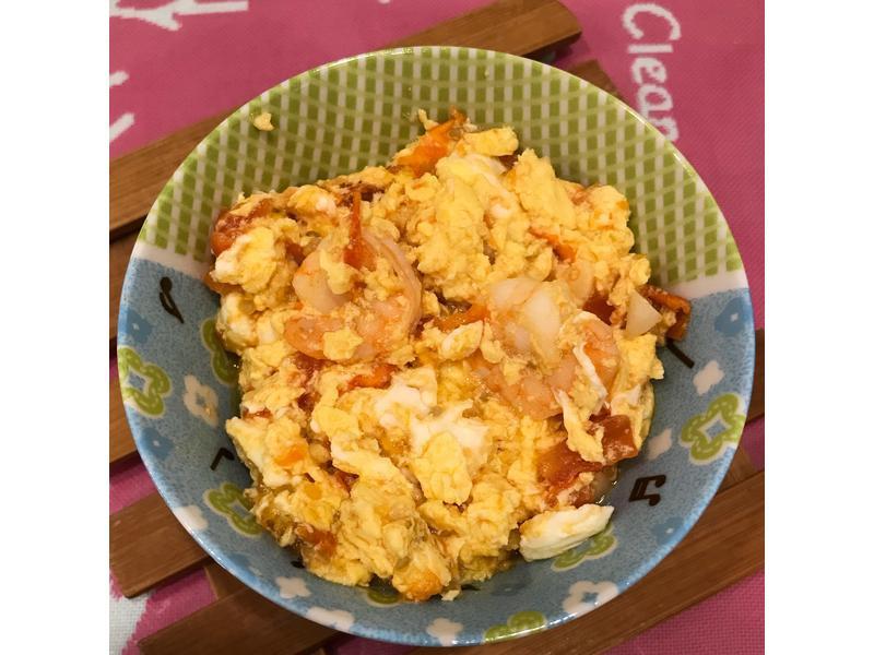 寶寶版 番茄蝦仁炒蛋