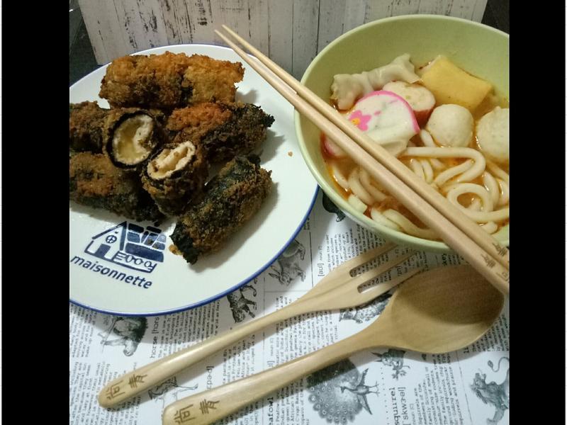 海苔起士豬肉卷&泡菜麵