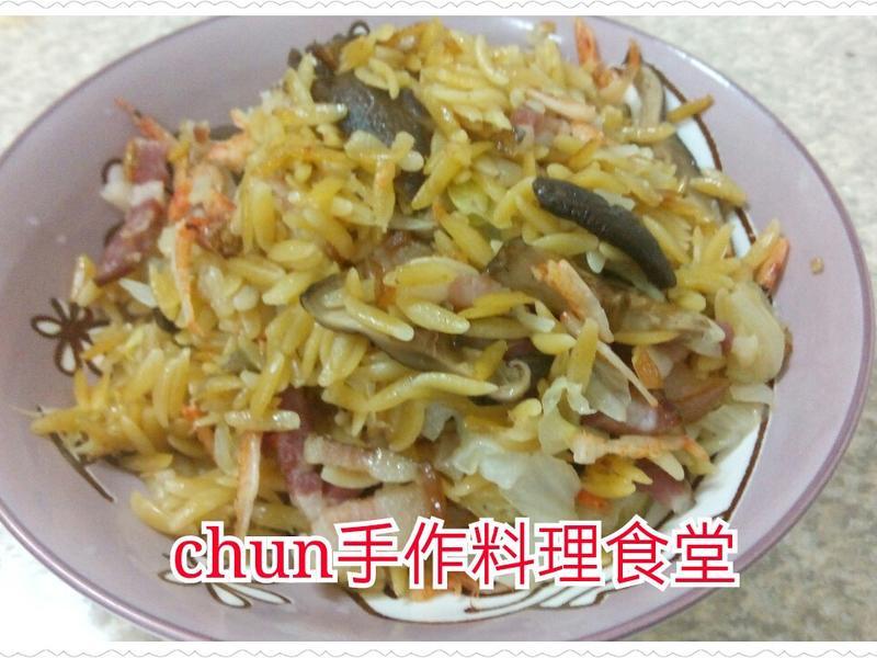 櫻花蝦鹹豬肉米型麵