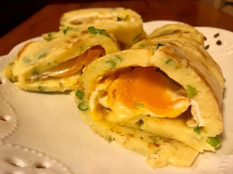 甜蜜早餐ღ厚燒鮮奶起司軟嫩蛋餅