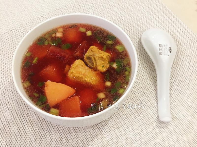 甜菜根排骨湯
