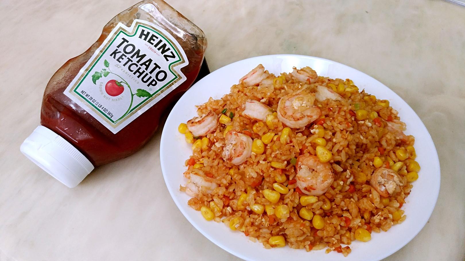 蕃茄玉米蝦仁炒飯