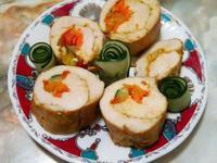 咖哩雞肉蔬菜捲