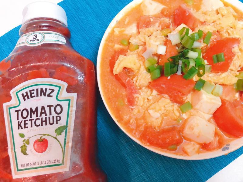 蕃茄炒蛋燴豆腐「亨氏番茄醬/原味」